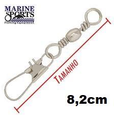Girador C/ Snap BBS-NI Nº 5/0 - Marine Sports - 15 Peças  - Life Pesca - Sua loja de Pesca, Camping e Lazer