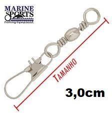 Girador C/ Snap BBS-NI Nº 7 - Marine Sports - 25 Peças  - Life Pesca - Sua loja de Pesca, Camping e Lazer