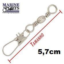 Girador C/ Snap BBS-NI Nº 1 - Marine Sports - 100 Peças  - Life Pesca - Sua loja de Pesca, Camping e Lazer