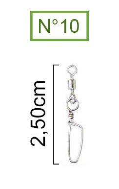 Girador Com Snap Coast Nickel Maruri N°10 (2,50cm) - 10 Peças  - Life Pesca - Sua loja de Pesca, Camping e Lazer