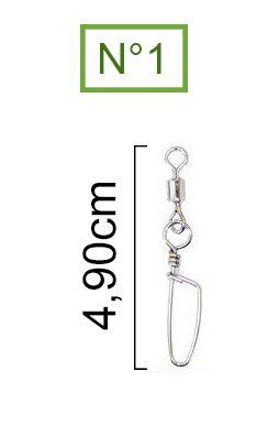 Girador Com Snap Coast Nickel Maruri N° 1 (4,90cm) - 10 Peças  - Life Pesca - Sua loja de Pesca, Camping e Lazer