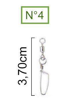 Girador Com Snap Coast Nickel Maruri N° 4 (3,70cm) - 10 Peças  - Life Pesca - Sua loja de Pesca, Camping e Lazer