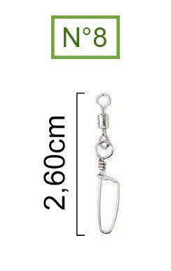 Girador Com Snap Coast Nickel Maruri N° 8 (2,60cm) - 10 Peças  - Life Pesca - Sua loja de Pesca, Camping e Lazer