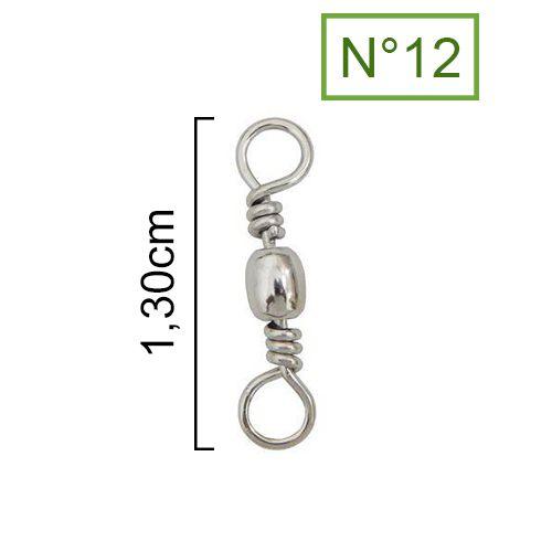 Girador Nickel Maruri N°12 (1,30cm) - 100 Peças  - Life Pesca - Sua loja de Pesca, Camping e Lazer