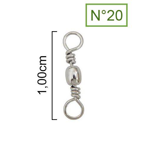 Girador Nickel Maruri N°20 (1,00cm) - 10 Peças  - Life Pesca - Sua loja de Pesca, Camping e Lazer