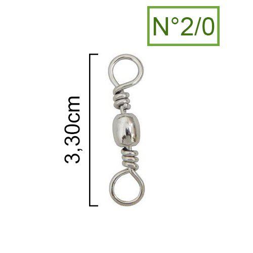 Girador Nickel Maruri N° 2/0 (3,30cm) - 5 Peças  - Life Pesca - Sua loja de Pesca, Camping e Lazer