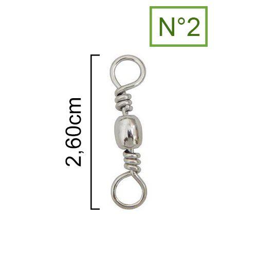 Girador Nickel Maruri N° 2 (2,60cm) - 100 Peças  - Life Pesca - Sua loja de Pesca, Camping e Lazer