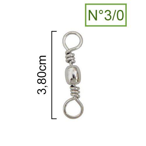 Girador Nickel Maruri N° 3/0 (3,80cm) - 5 Peças  - Life Pesca - Sua loja de Pesca, Camping e Lazer