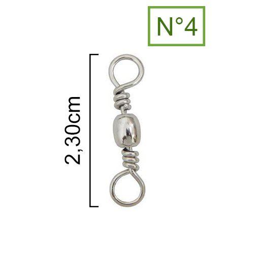 Girador Nickel Maruri N° 4 (2,30cm) - 10 Peças  - Life Pesca - Sua loja de Pesca, Camping e Lazer