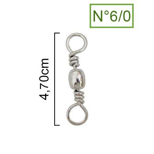 Girador Nickel Maruri N° 6/0 (4,70cm) - 100 Peças  - Life Pesca - Sua loja de Pesca, Camping e Lazer