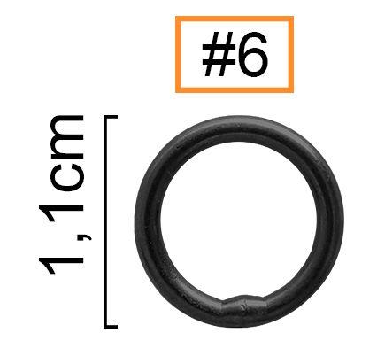 Girador Solid Ring Black Nickel N° 6 - Albatroz Fishing - 7 pçs  - Life Pesca - Sua loja de Pesca, Camping e Lazer