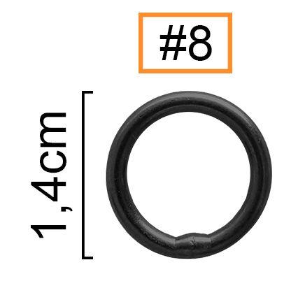 Girador Solid Ring Black Nickel N° 8 - Albatroz Fishing - 6 pçs  - Life Pesca - Sua loja de Pesca, Camping e Lazer