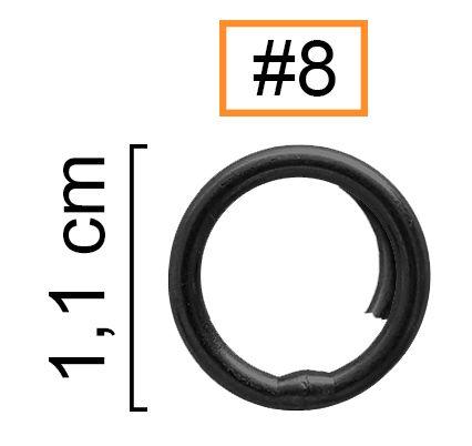Girador Split Ring Black Nickel N° 8 - Albatroz Fishing - 06 pçs  - Life Pesca - Sua loja de Pesca, Camping e Lazer