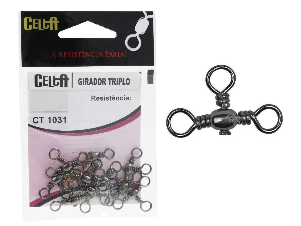 Girador Triplo Celta Nº 8 Black 45lb / 20,3kg - 10 Peças
