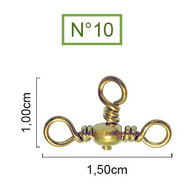 Girador Triplo Gold Maruri N°10 (1,20cm) - 10 Peças  - Life Pesca - Sua loja de Pesca, Camping e Lazer