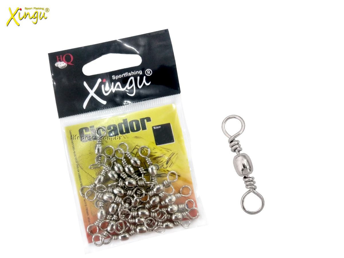 Girador Xingu Nickel N° 8 (1,9cm) - 25 Peças