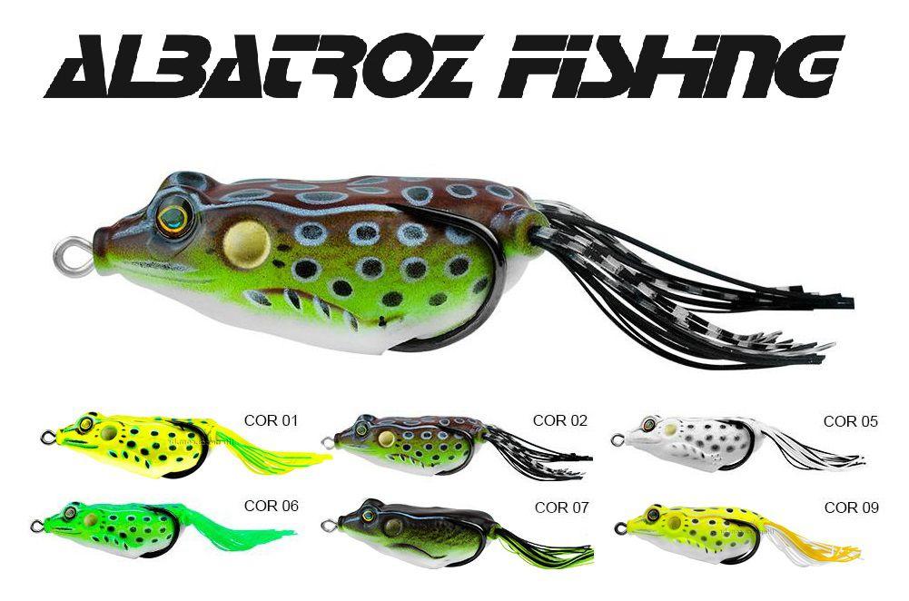 Isca Artificial Albatroz Fishing Top Frog Xy-10 - 6cm (18g) - Várias Cores  - Life Pesca - Sua loja de Pesca, Camping e Lazer