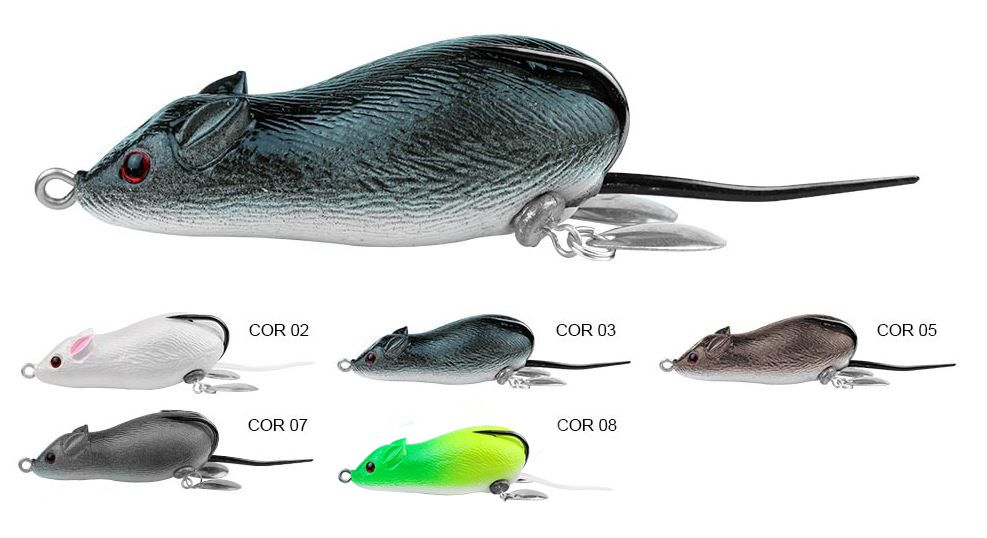 Isca Artificial Albatroz Fishing Top Mouse XY-19 - 6,5cm (20g) - Várias Cores