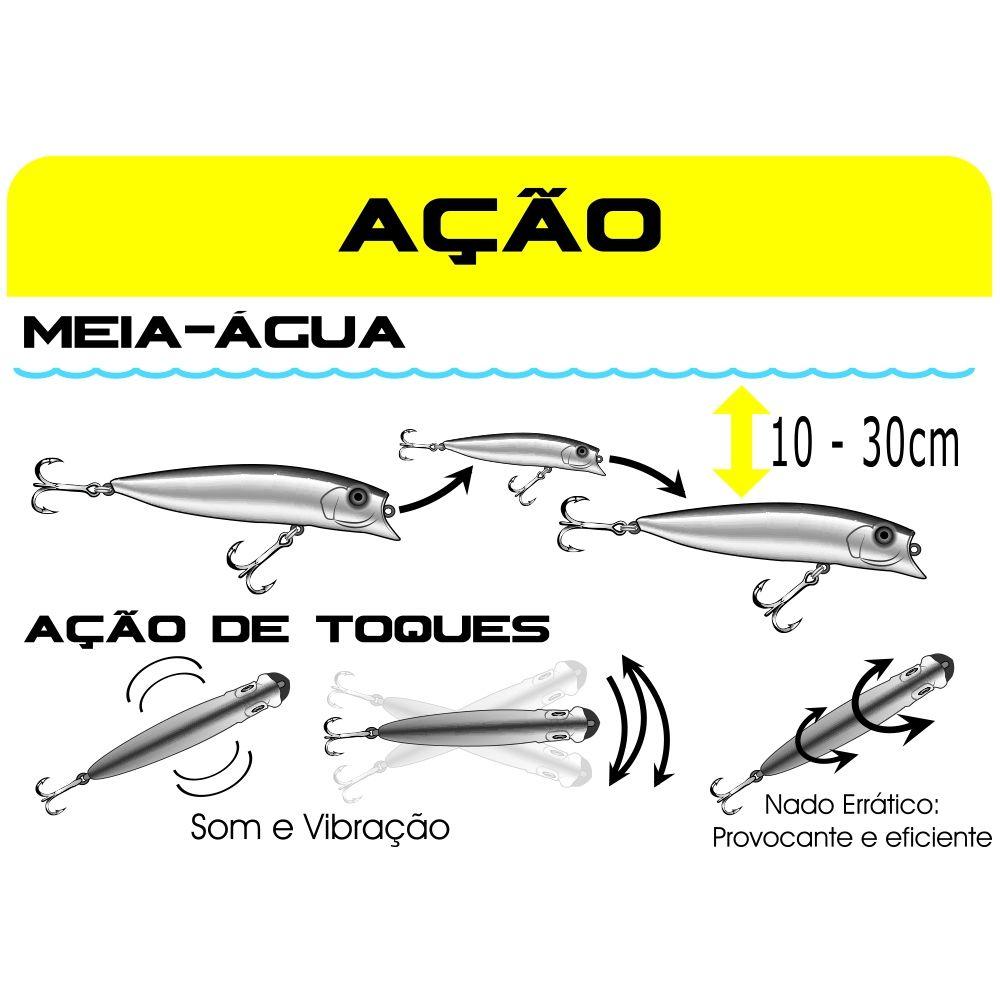 Isca Artificial Marine Sports - Brava 77 - 7,7cm 7,2gr Várias Cores  - Life Pesca - Sua loja de Pesca, Camping e Lazer