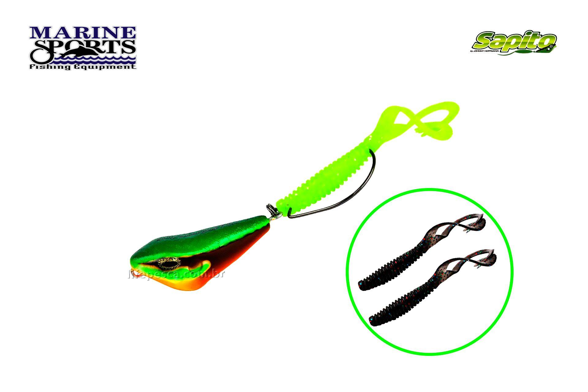 Isca Artificial Marine Sports Sapito SP-40 (6g) - Várias Cores  - Life Pesca - Sua loja de Pesca, Camping e Lazer