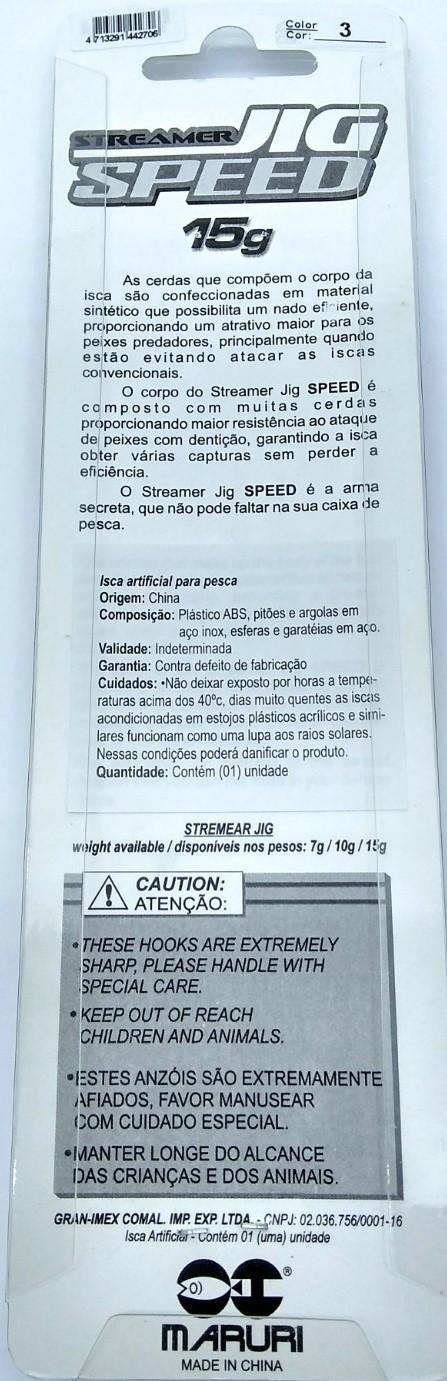 Isca Artificial Maruri Streamer Jig Speed - 15gr ( Várias Cores )  - Life Pesca - Sua loja de Pesca, Camping e Lazer