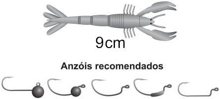 Isca Artificial Soft Bass Monster 3X Slow Crab (9cm) 8 Unidades - Várias Cores  - Life Pesca - Sua loja de Pesca, Camping e Lazer