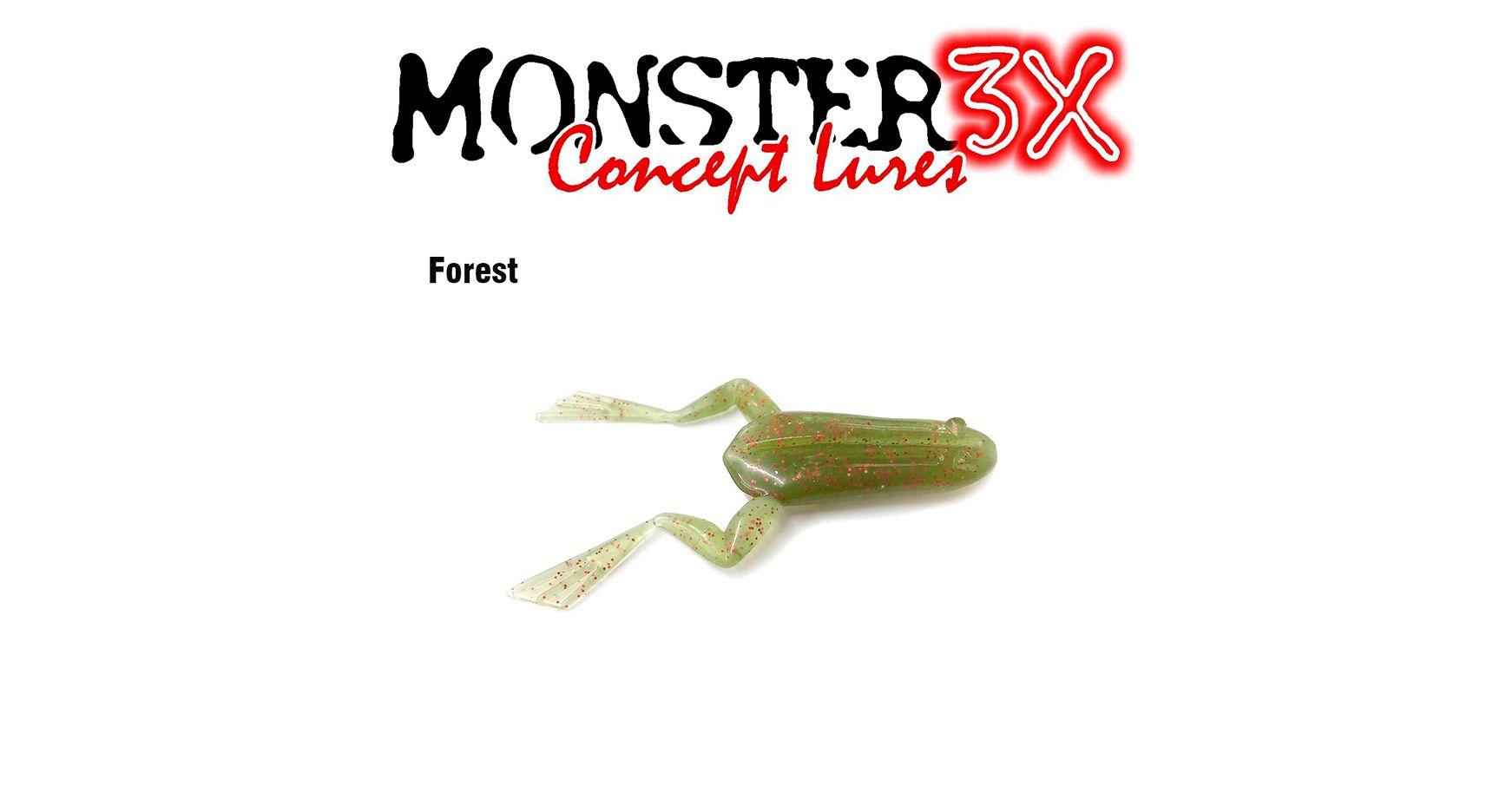 Isca Artificial Soft Monster 3X X-Frog (9cm) 2 Unidades - Várias Cores  - Life Pesca - Sua loja de Pesca, Camping e Lazer