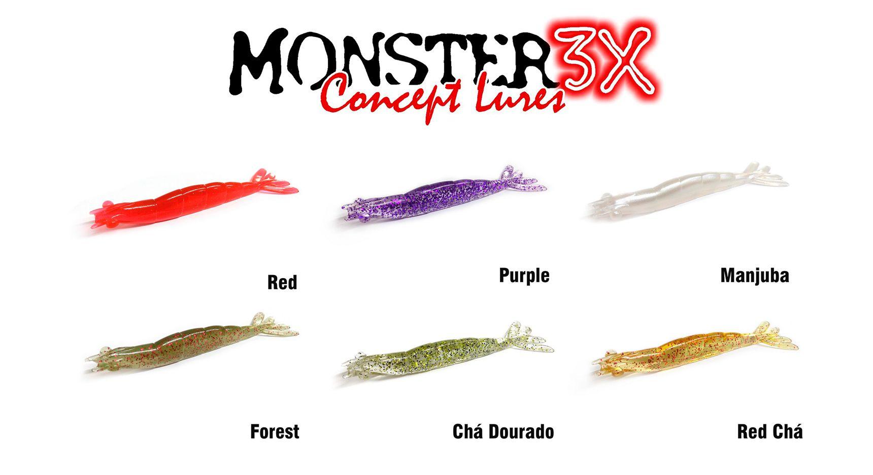 Isca Artificial Soft Monster 3X X-Solid (8 cm) 5 Unidades - Várias Cores  - Life Pesca - Sua loja de Pesca, Camping e Lazer