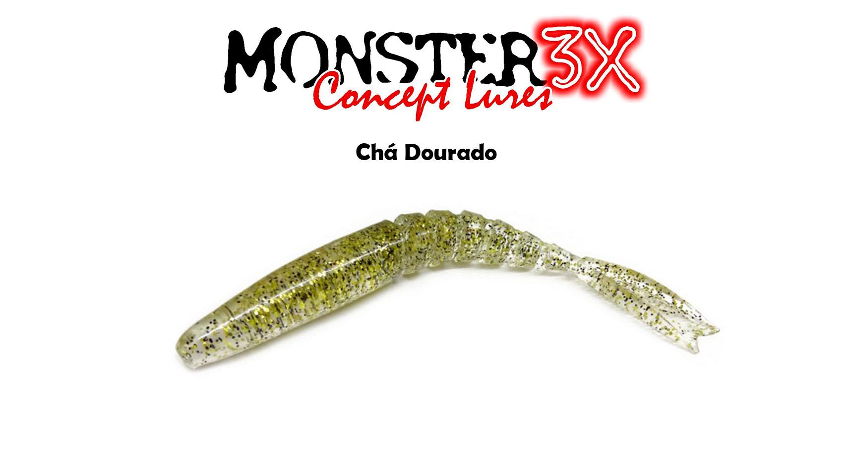 Isca Artificial Soft Monster 3X X-Swim (9 cm) 3 Peças - Várias Cores