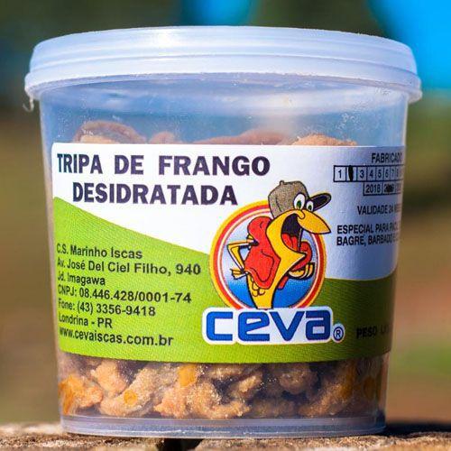 Isca Tripa de Frango Desidratada Para Pesca  - Pote 120g
