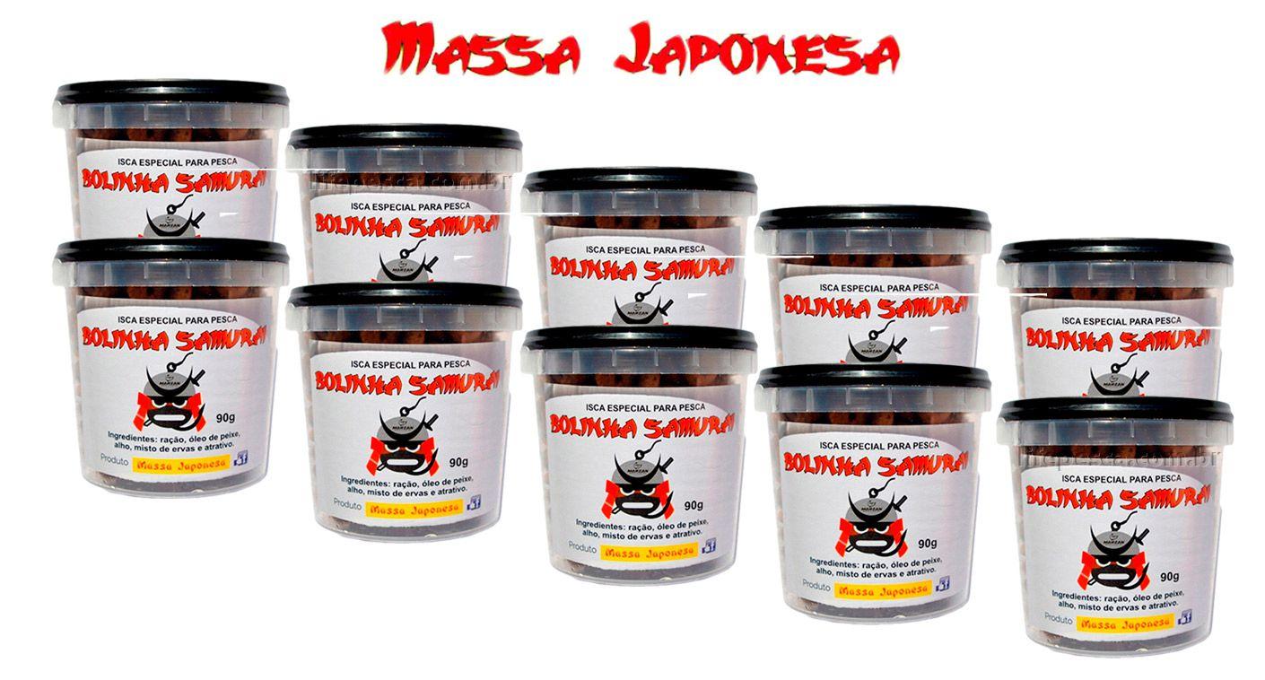 Iscas Bolinha Samurai Especial para Pesca - Kit C/ 10 Potes com 90g