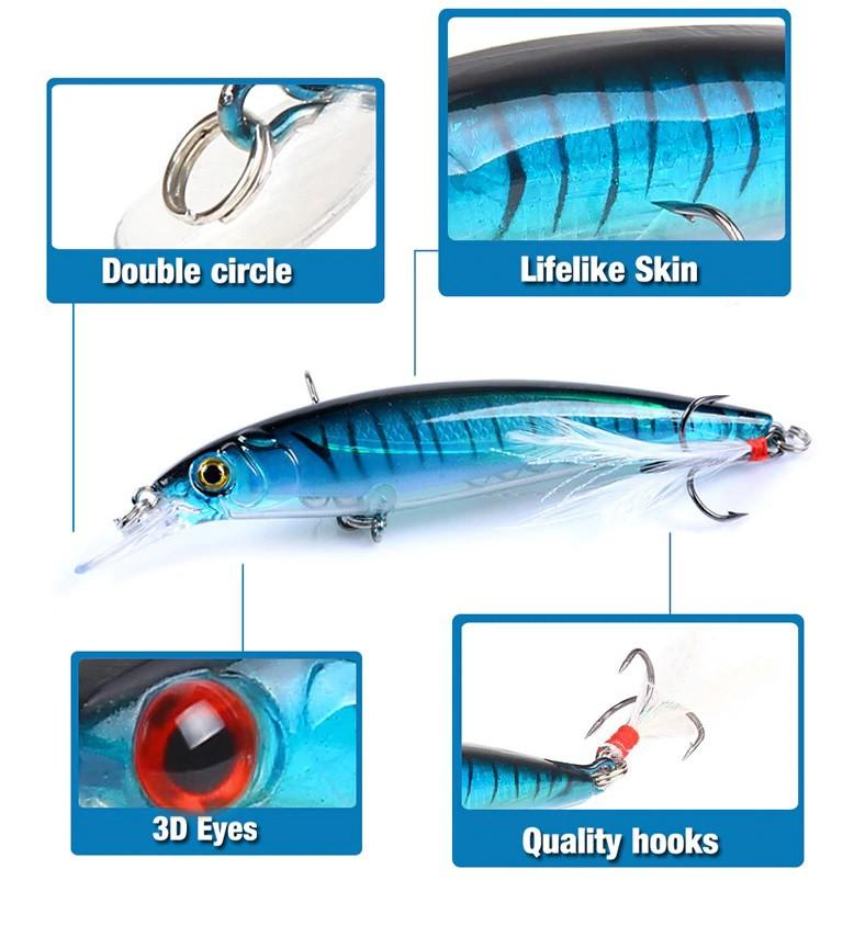 Kit 10 Iscas Artificiais De Meia-água 9,0cm 8,0gr  - Life Pesca - Sua loja de Pesca, Camping e Lazer