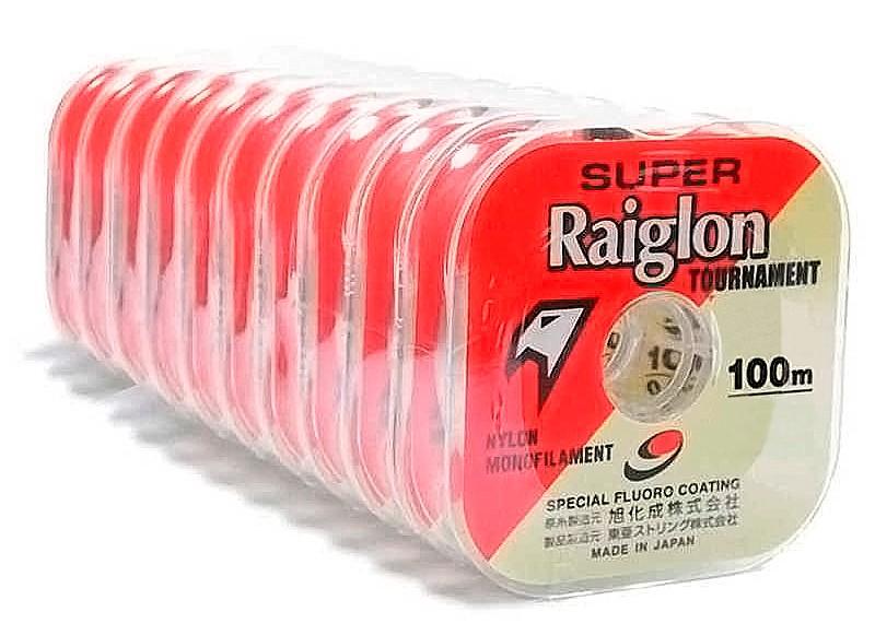 Kit 10 Linhas Monofilamento Super Raiglon 0,285mm 17,0lbs/8,0kg - (10x 100 Metros)