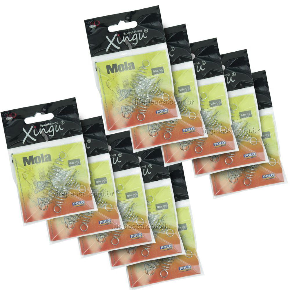 Kit C/ 10 Cart. Molas Para Chuveirinho Pequena (2,0cm) Xingu - 70 Peças