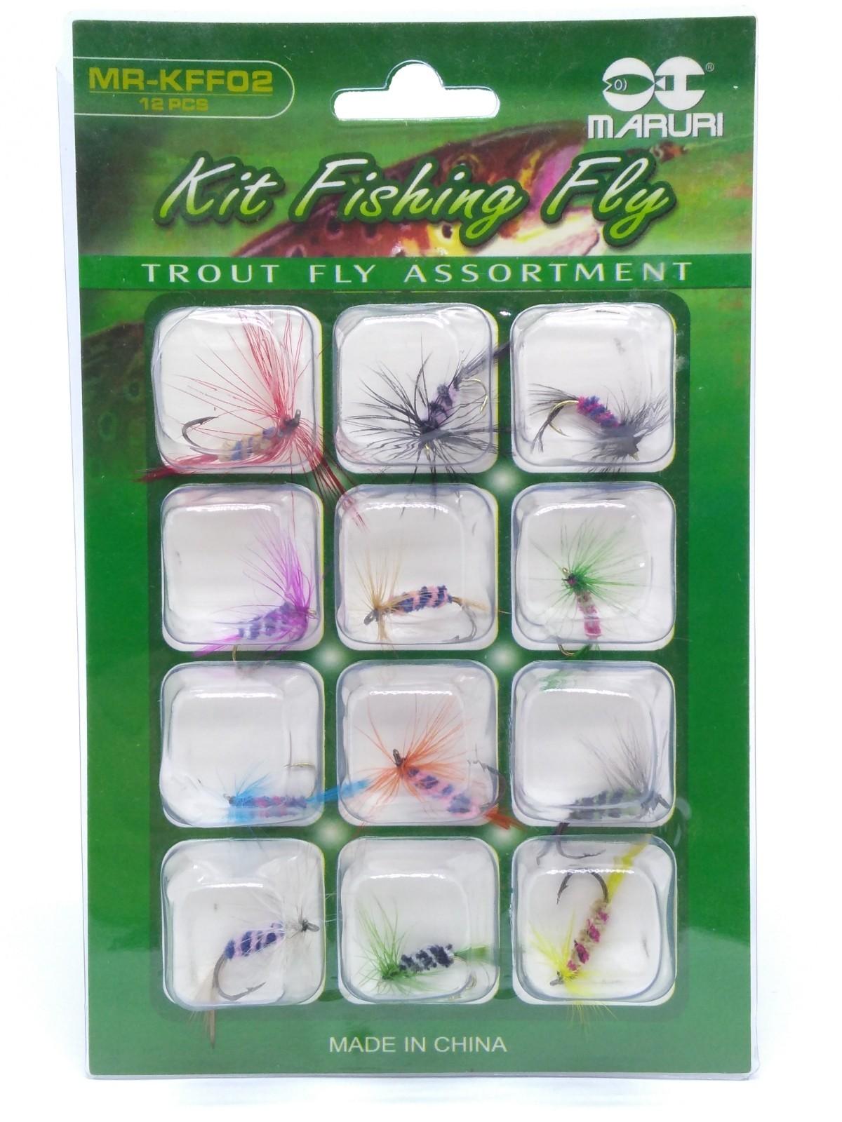 Kit 12 Iscas Maruri Fly - KFF02  - Life Pesca - Sua loja de Pesca, Camping e Lazer