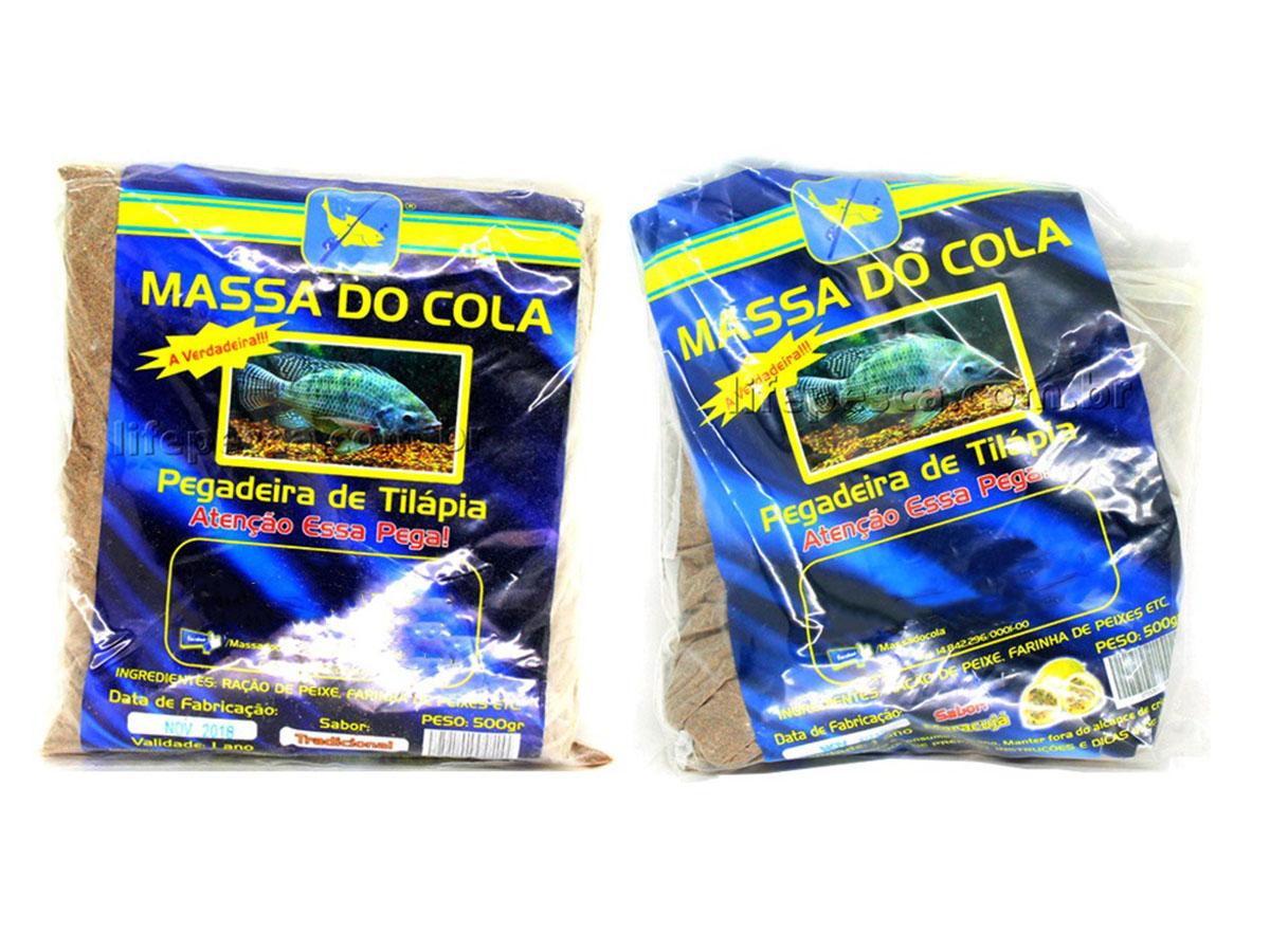 Kit 2 Massas Para Pesca Do Cola Tilápia Maracujá 500g + Tilápia 500g