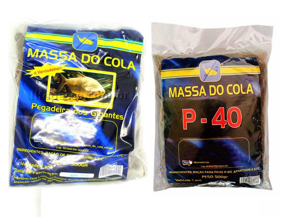 Kit 2 Massas Para Pesca Do Cola Tradicional 500g + P-40 500g