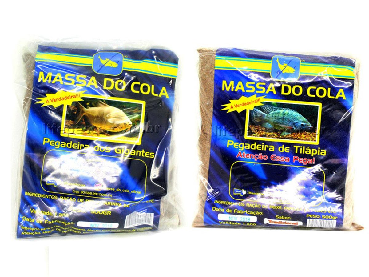Kit 2 Massas Para Pesca Do Cola Tradicional 500g + Tilápia 500g