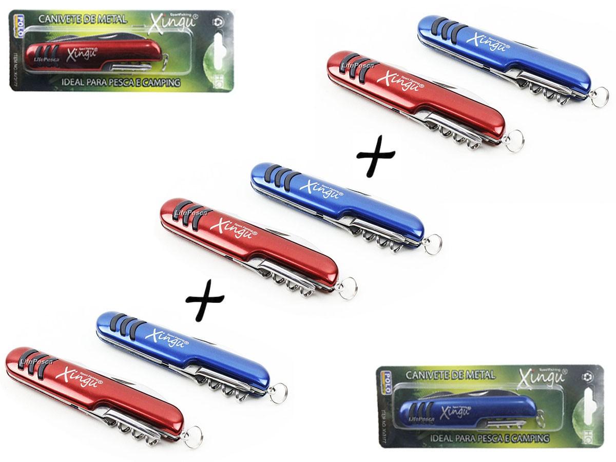 Kit 3 Canivetes 5 Funções Xingu XV3177 Estilo Suíço - Cores