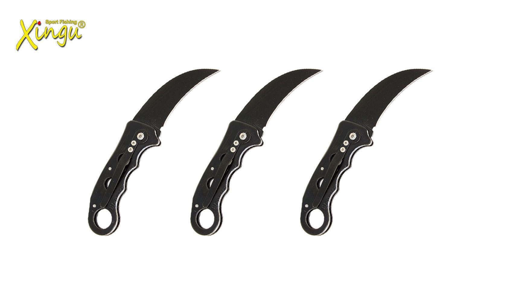 Kit 3 Canivetes Xingu XV3138 Lâmina Curva - Aço Carbono