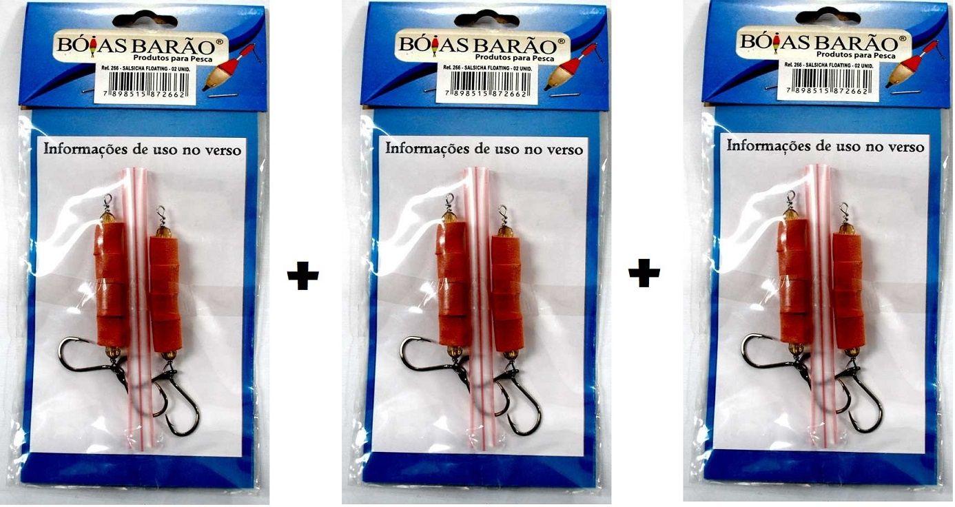 Kit 3 Cartelas Encastoado Salsicha Floating BARÃO - 2 Unidades