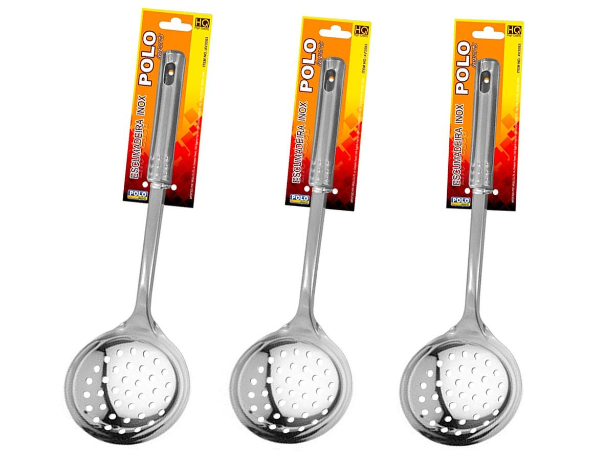 Kit 3 Escumadeiras Inox XV3083 - Xingu