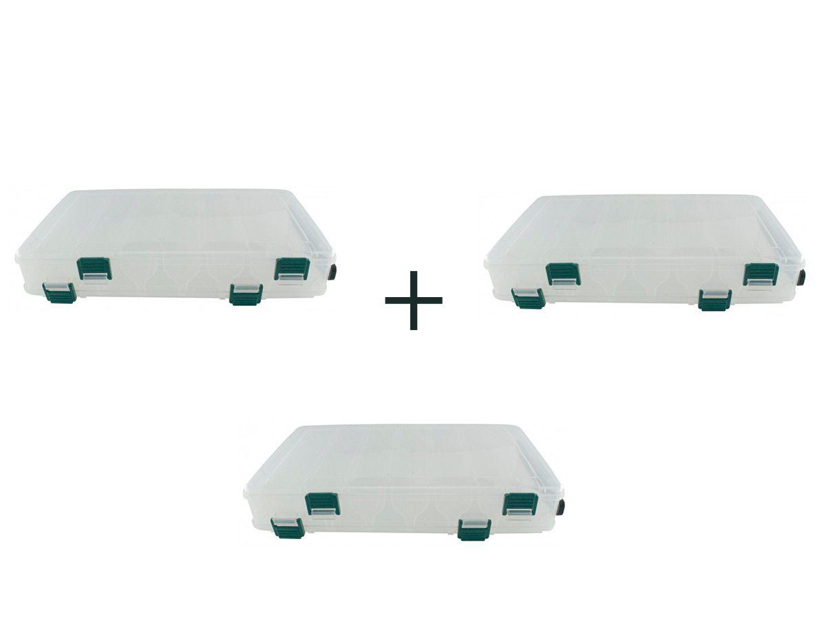 Kit 3 Estojo P/ Iscas Bait Box Hs326 14 Divisões - Jogá