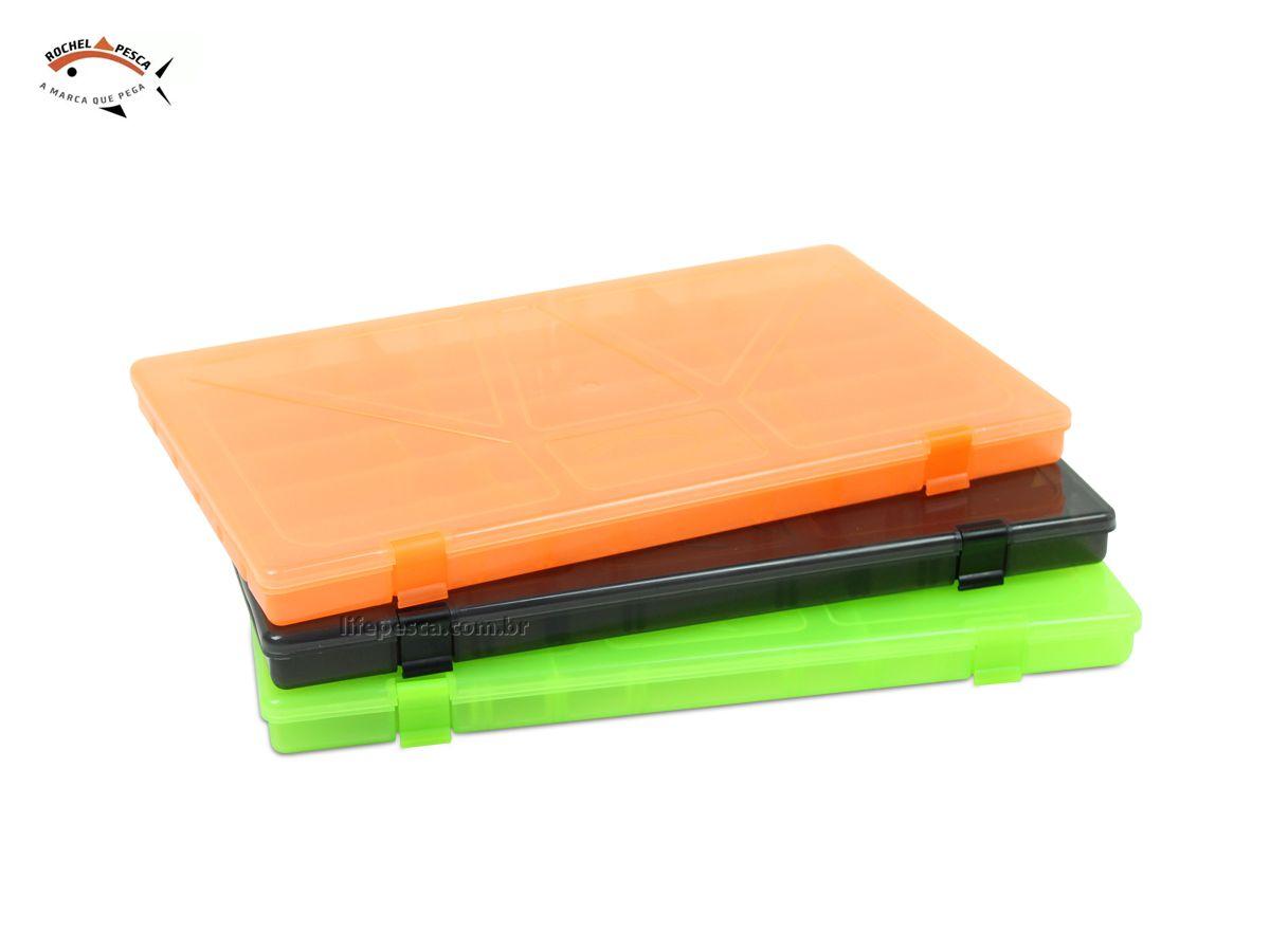 Kit 3 Estojos Box Para Iscas Coloridos - C/ 24 Divisões