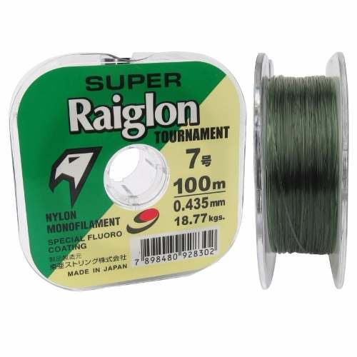 Kit 3 Linhas Monofilamento Super Raiglon 0,435mm 42lbs/18,8kg - (3x 100 Metros)  - Life Pesca - Sua loja de Pesca, Camping e Lazer