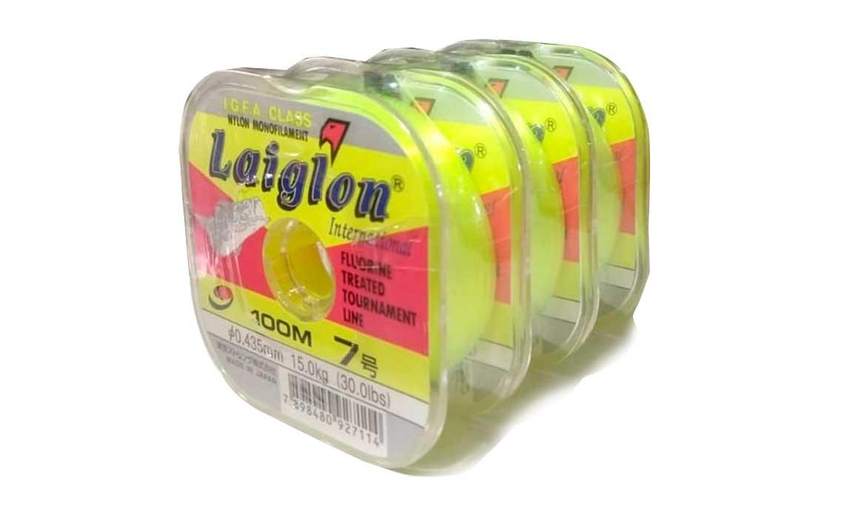 Kit 3 Linhas Monofilamento Laiglon 0,43mm 30lbs/15,0kg - (3x 100 Metros)
