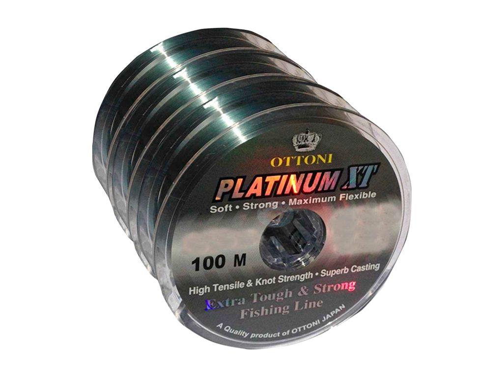 Kit 3 Linhas Monofilamento Platinum XT 0,80mm 152,3lbs/69,1kg - (3x 100 Metros)