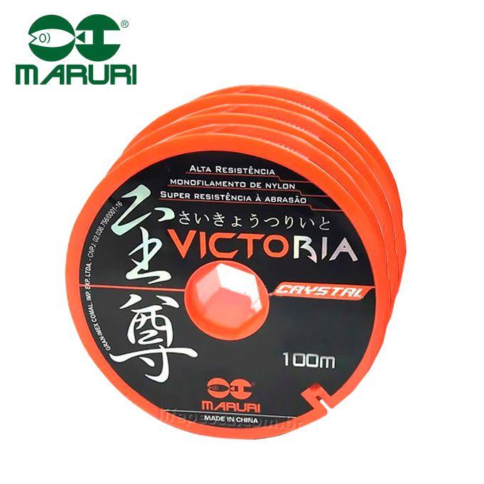 Kit 3 Linhas Victoria Crystal Maruri - 0,61mm 40,8lbs/18,5kg - (3x 100 Metros)