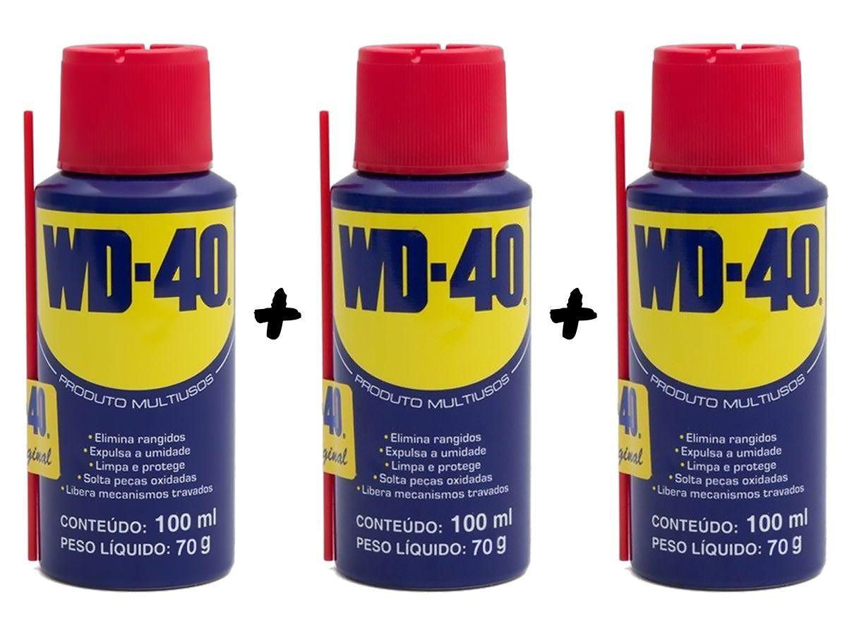 Kit 3 Lubrificantes WD-40 Spray Multiuso - 3 x 100ml