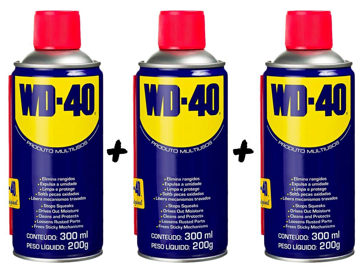 Kit 3 Lubrificantes WD-40 Spray Multiuso - 3 x 300ml